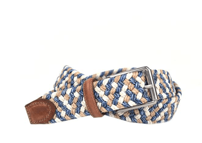 Planters Exchange Martin Dingman Como Belt Blue/Sand