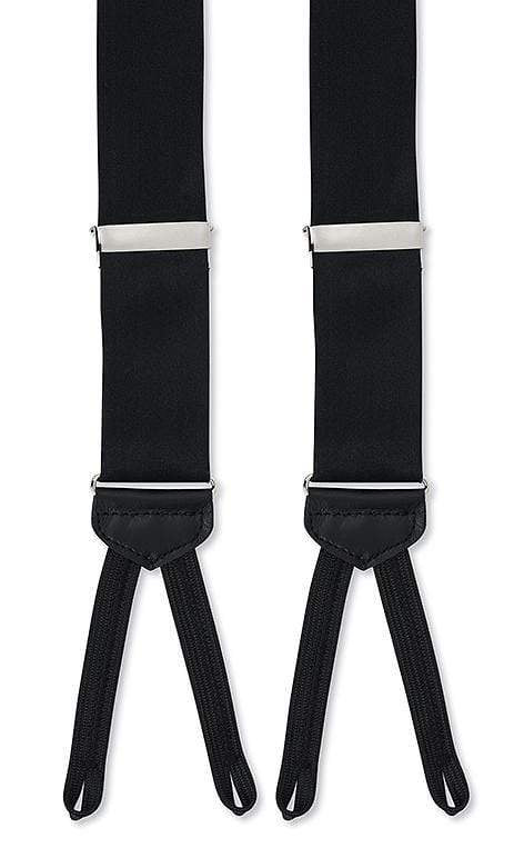 R. Hanauer Men's Accessories Black Satin Suspenders