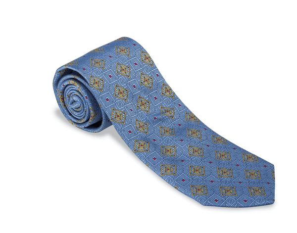 R. Hanauer Men's Necktie Dogwood Medallion