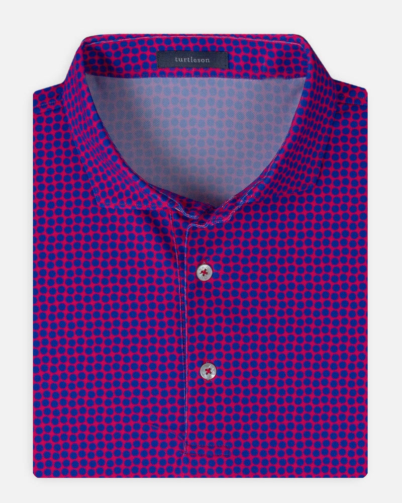Turtleson Men's Shirts Berry/Marine / Medium Coz Dot Performance Polo