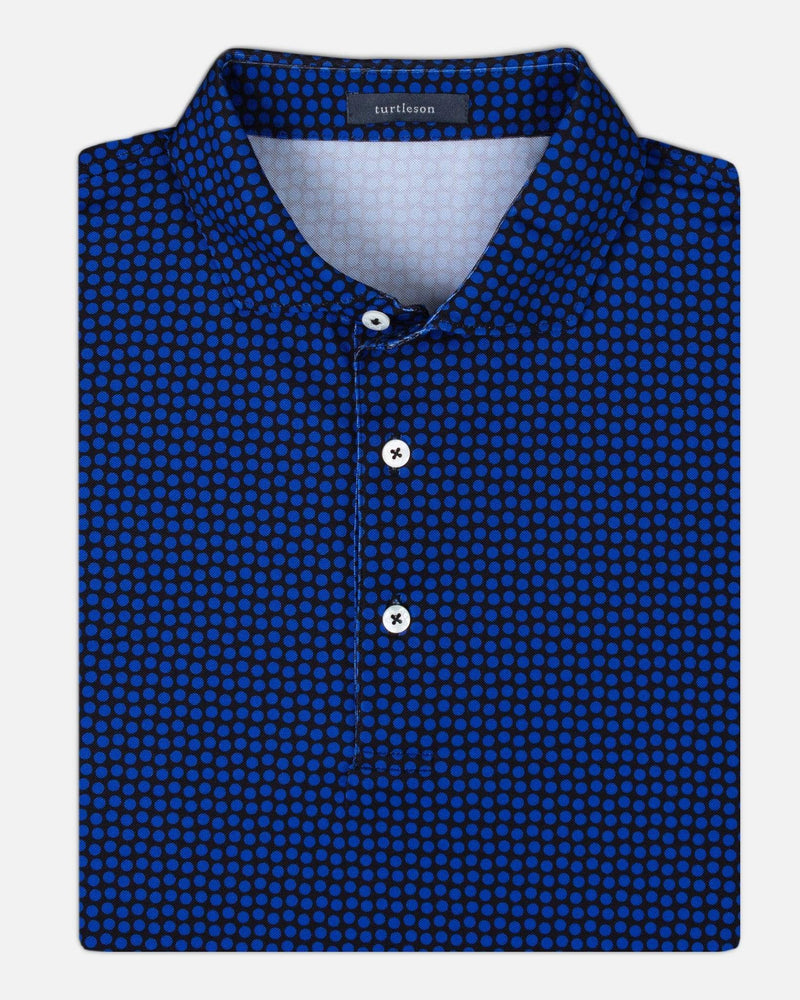 Turtleson Men's Shirts Black/Marine / Large Coz Dot Performance Polo