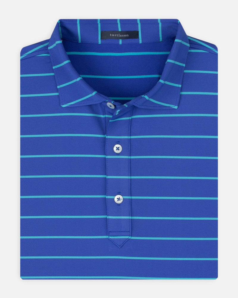 Turtleson Men's Shirts Marine/Reef / Small Bruce Stripe Performance Polo