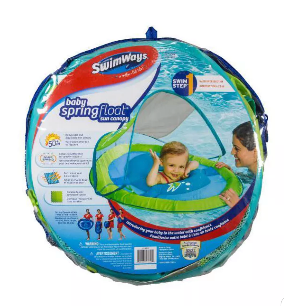 NEW Swimways Baby Float - Green/Blue