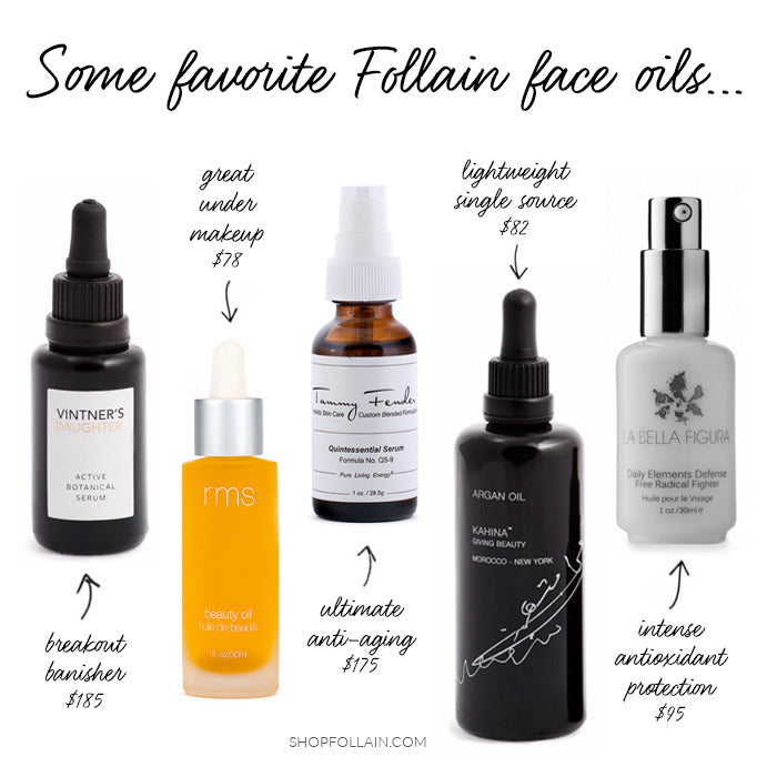 Some Follain Favorite Natural Face Oils