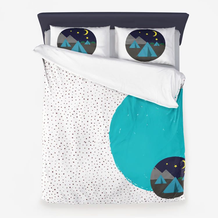 CampsiteMicrofiber Duvet Cover and pillow cases