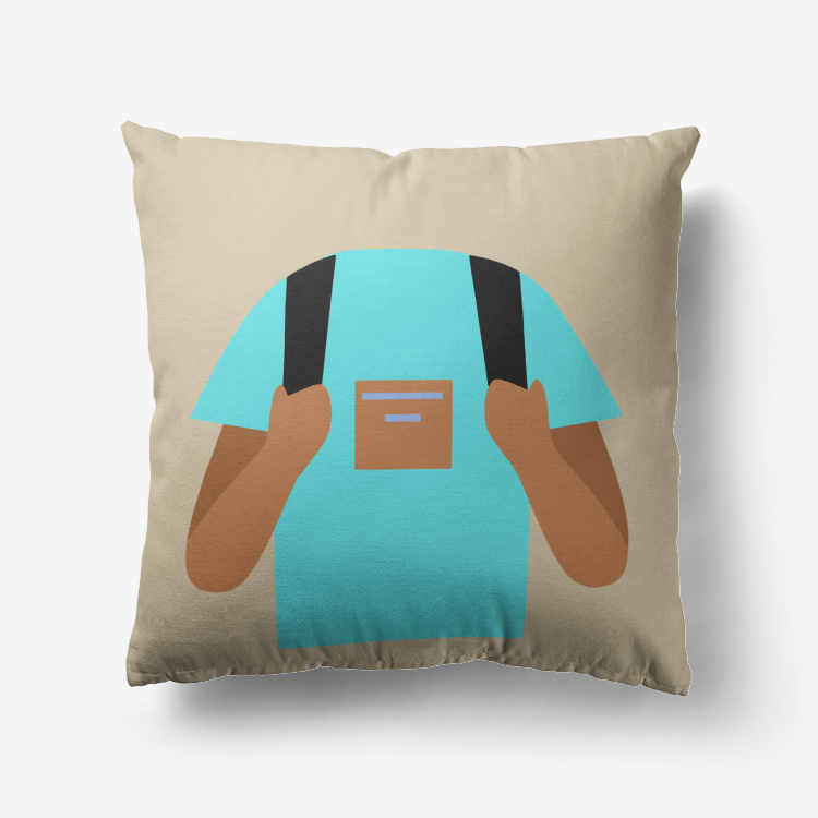 Backpacker Premium Hypoallergenic Throw Pillow