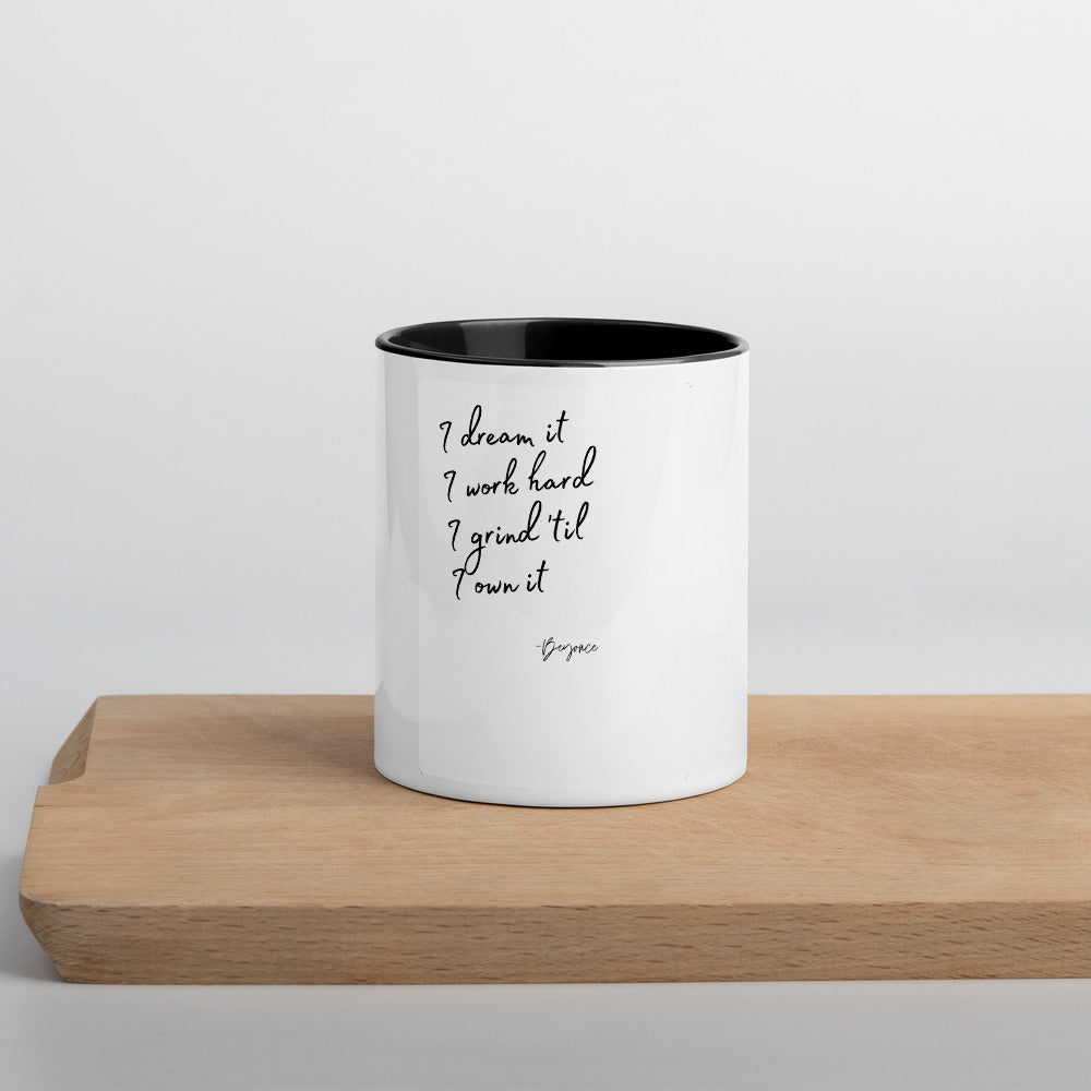 Beyonce Ownership Quote Mug with Color Inside
