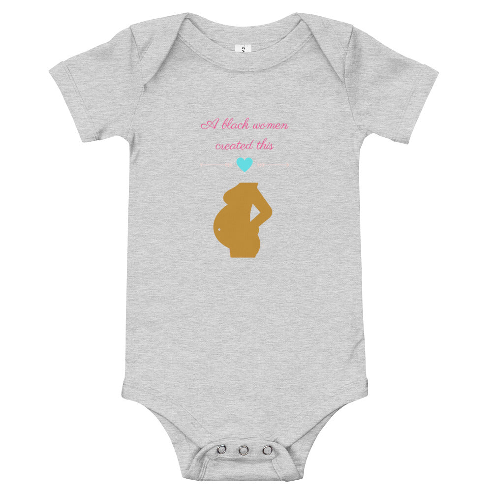 Made by a Black Woman Baby Onesie