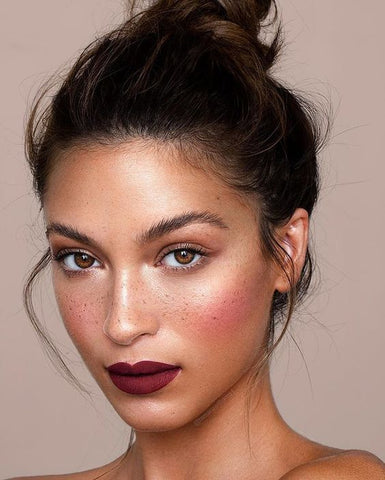 Bold lip fair skin tone