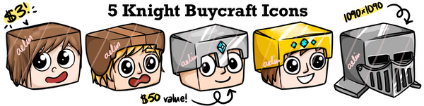 Minecraft buycraft icons cheap hand drawn game art