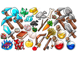 Every Item and Material - 37 Minecraft Server Icons - ReadyArtShop