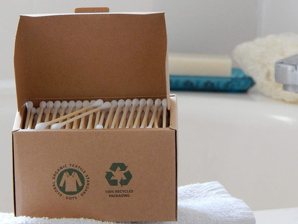 Organic Bamboo Cotton Buds - Pack of 300