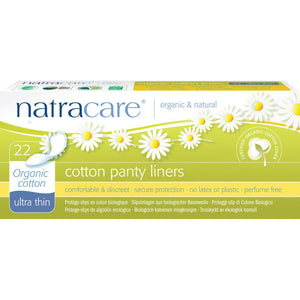 NatraCare Organic Ultra Thin Cotton Panty Liners - Pack of 22
