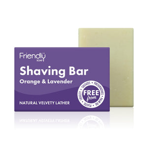Friendly Soap Shaving Bar - Orange & Lavender