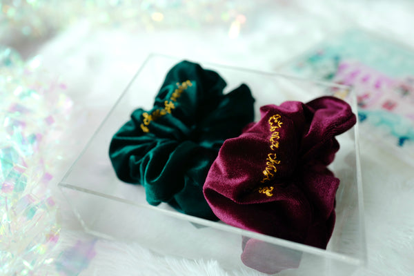 Christmas Velvet Scrunchie