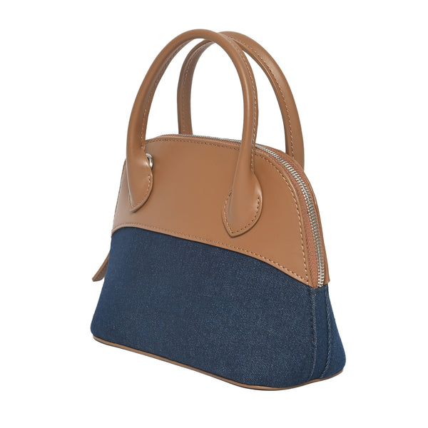 Denim Halfmoon Bag