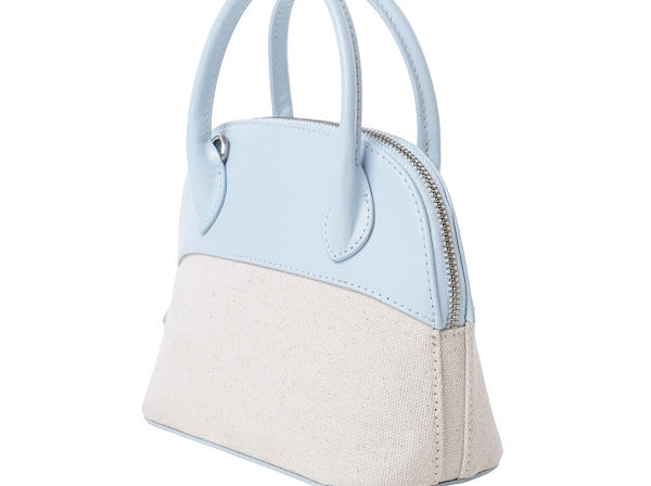 Canvas Halfmoon Bag | Sky