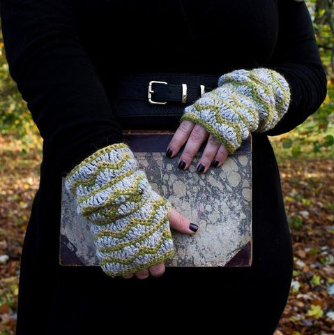 'Etty' fingerless gloves