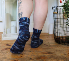 Basic crochet socks with heel flap