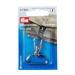 Prym Snap hook 25 x 40mm, silver-coloured