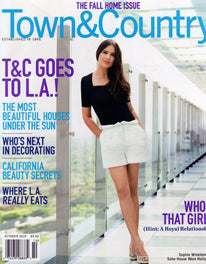 Tole Tent Lantern in Town & Country Magazine