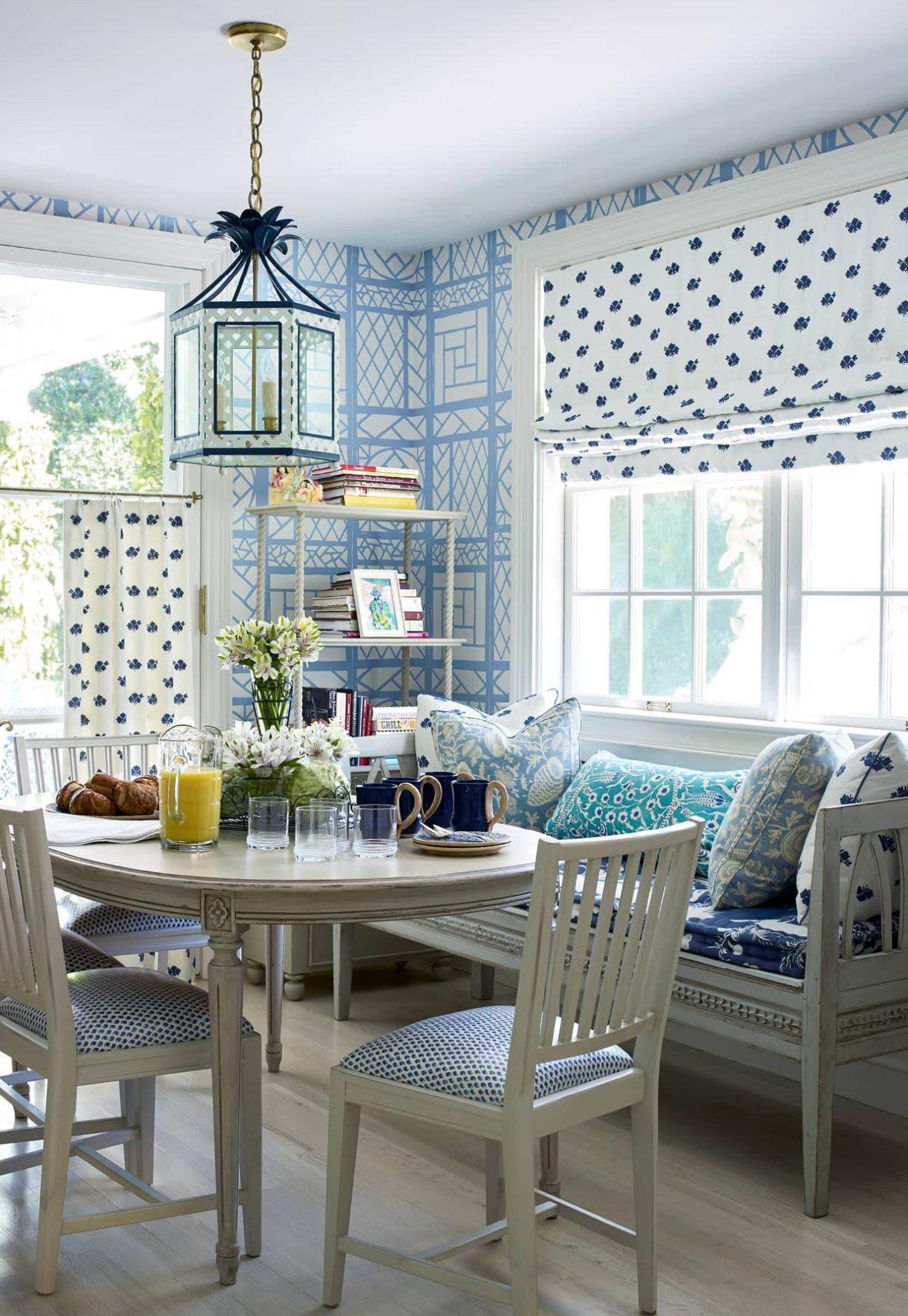 The Elsie Lantern in a Breakfast Room by Leta Austin Foster, photo courtesy of  House Beautiful Magazine