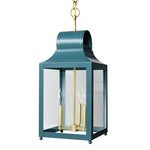 Load image into Gallery viewer, The Maribel Lantern in Standard Peacock w/ Brass Hardware
