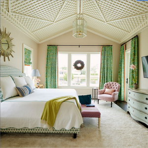 The Paloma Lantern in a Master Bedroom / Design by Andrew Howard Interior Design