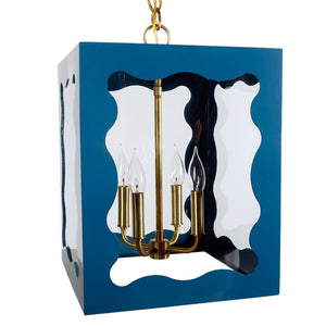 The Calliope Lantern in a Custom Blue
