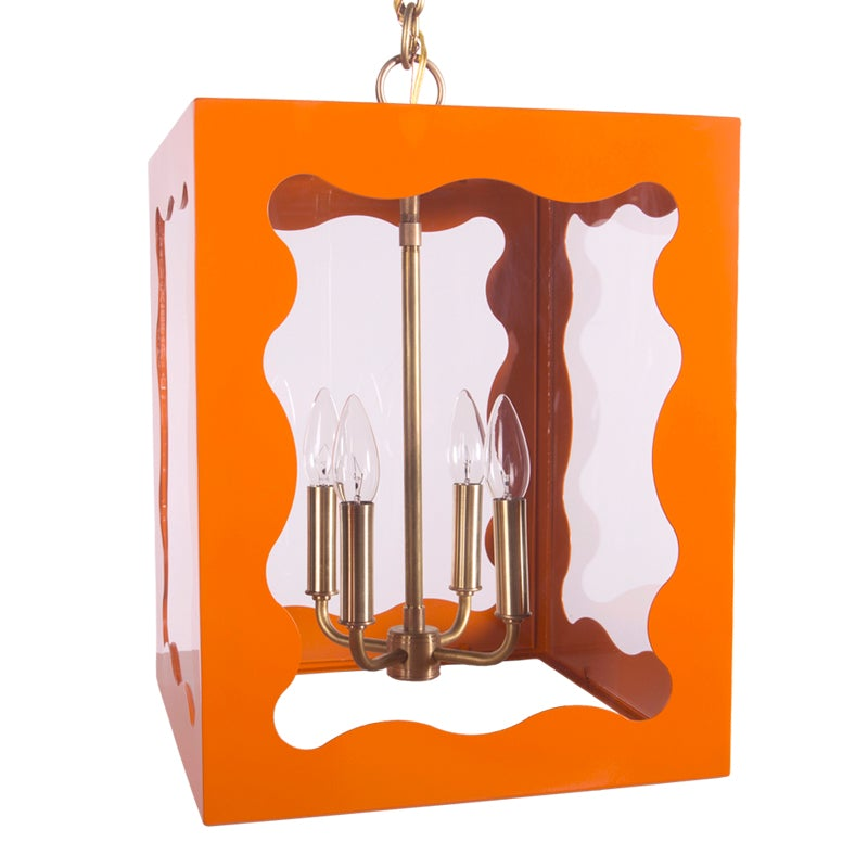 The Calliope Lantern in a Custom Orange