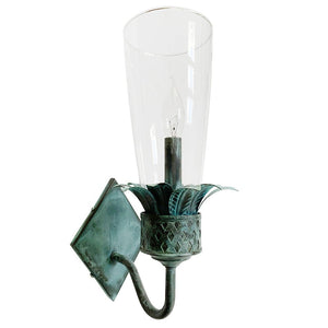 The Charlotte Sconce in Verdigris