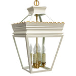 Load image into Gallery viewer, The Cleo Lantern in Standard Ivory w/ Gold Gilt Trim & Brass Hardware