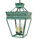 Load image into Gallery viewer, The Cleo Lantern in Verdigris Finish