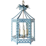 Load image into Gallery viewer, The Elsie Lantern in a Custom Solid Blue w/ Nickel Hardware