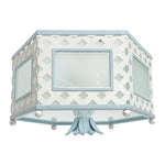 Load image into Gallery viewer, The Elsie Flush Mount in a Custom Blue w/ BM Super White