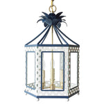 Load image into Gallery viewer, The Elsie Lantern in BM Super White w/ Ralph Lauren Rue Royale Trim