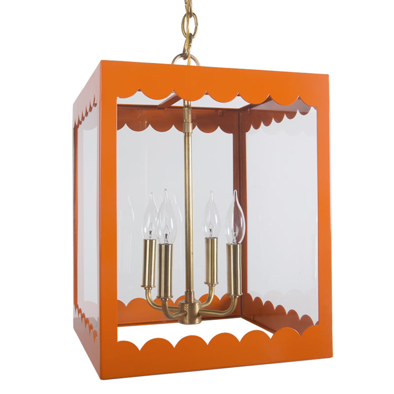 The Isabel Lantern in a Custom Orange