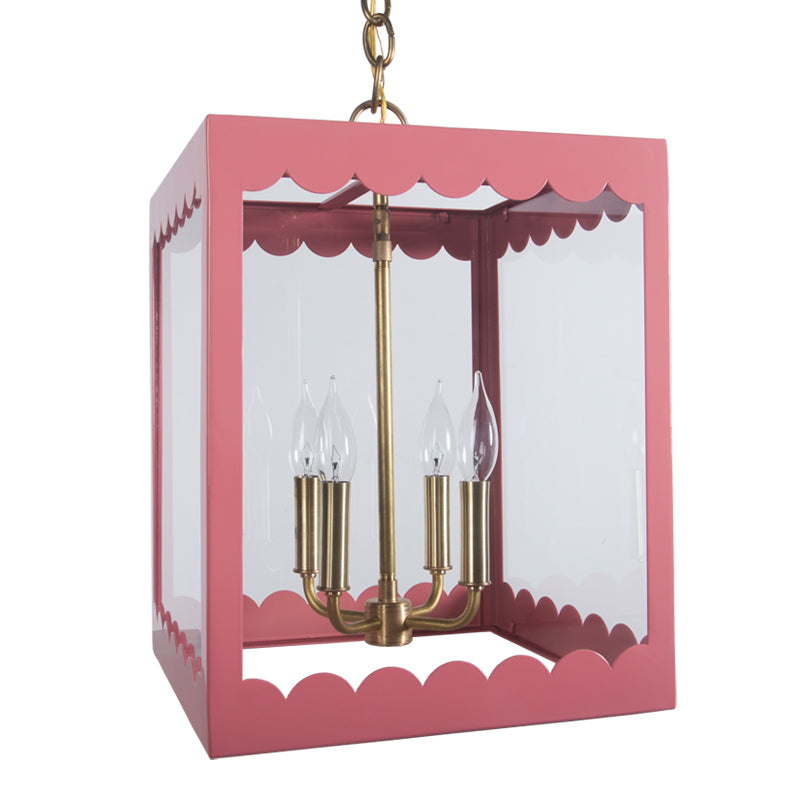 The Isabel Lantern in a Custom Pink