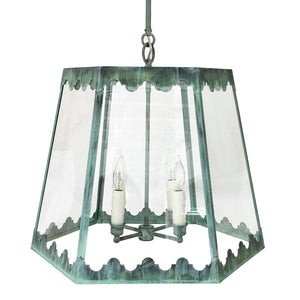 The Josephine Lantern in All Verdigris Finish