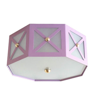 The Avery Flush Mount in a Custom Lilac