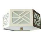 Load image into Gallery viewer, The Lexi Flush Mount in Standard Ivory
