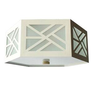 The Lexi Flush Mount in Standard Ivory