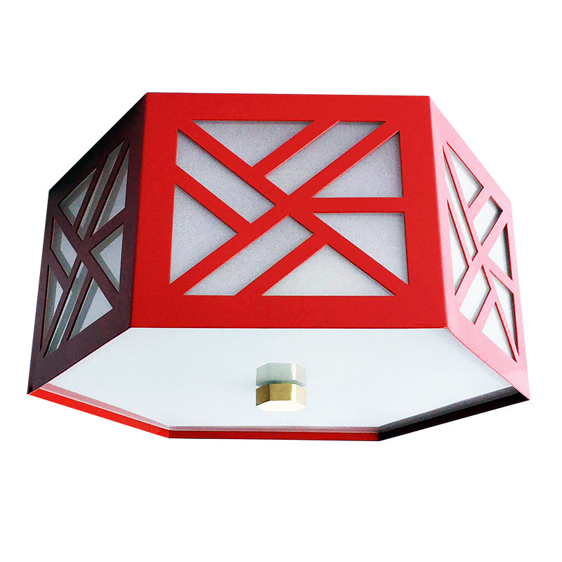 The Lexi Flush Mount in a Custom Red