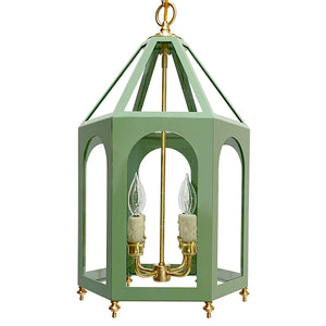 The Lucia Lantern in Custom BM Adirondack Green