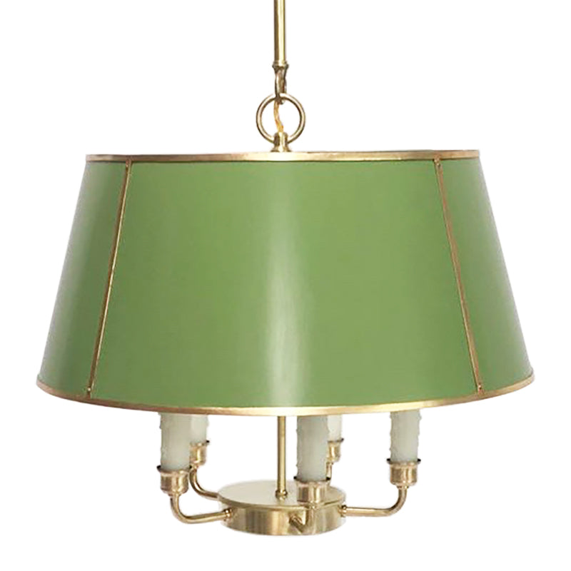 The Maisie in Custom BM Courtyard Green w/ Gold Gilt Trim & Brass Hardware
