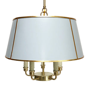 The Maisie in Custom F&B Parma Gray w/ Gold Gilt Trim & Brass Hardware