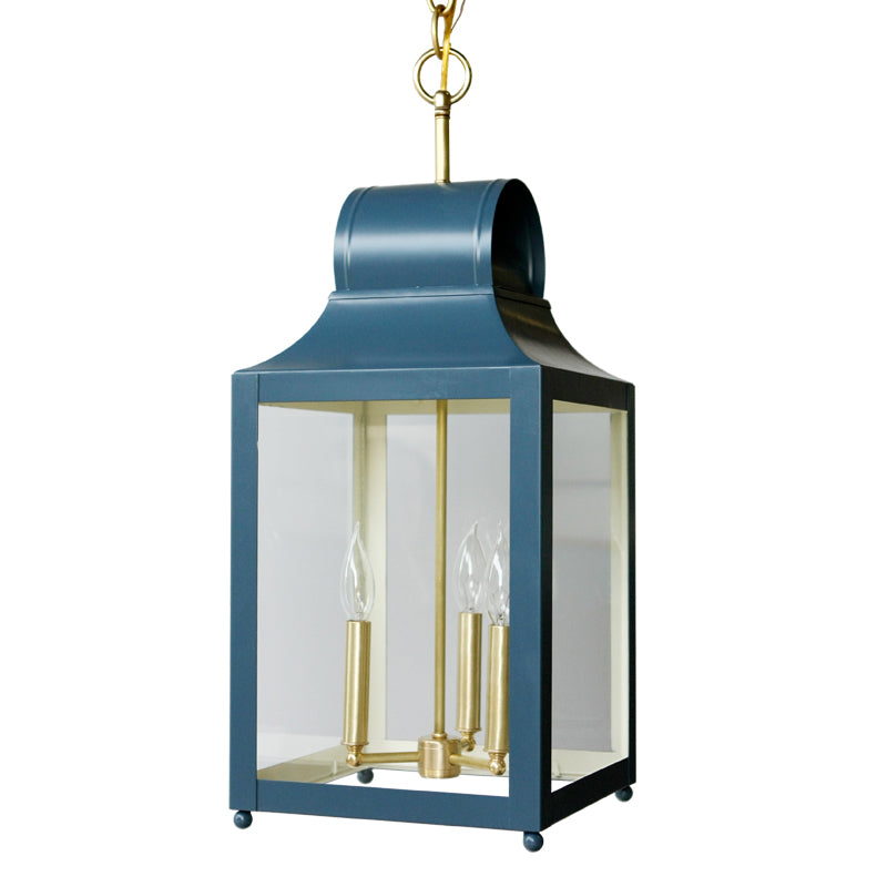 The Maribel Lantern in a Custom Blue w/ Ivory Interior
