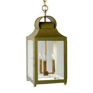 The Maribel Lantern in a Custom Green w/ Ivory Interior