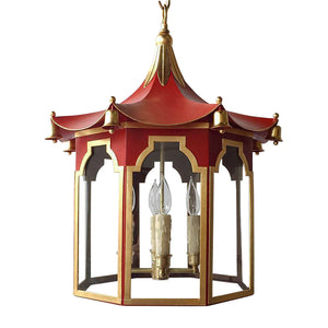 The Pagoda Lantern in Standard Moroccan Red