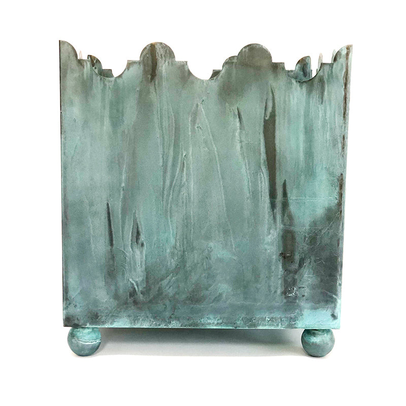 THE VERDIGRIS PALOMA PLANTER / BRASS